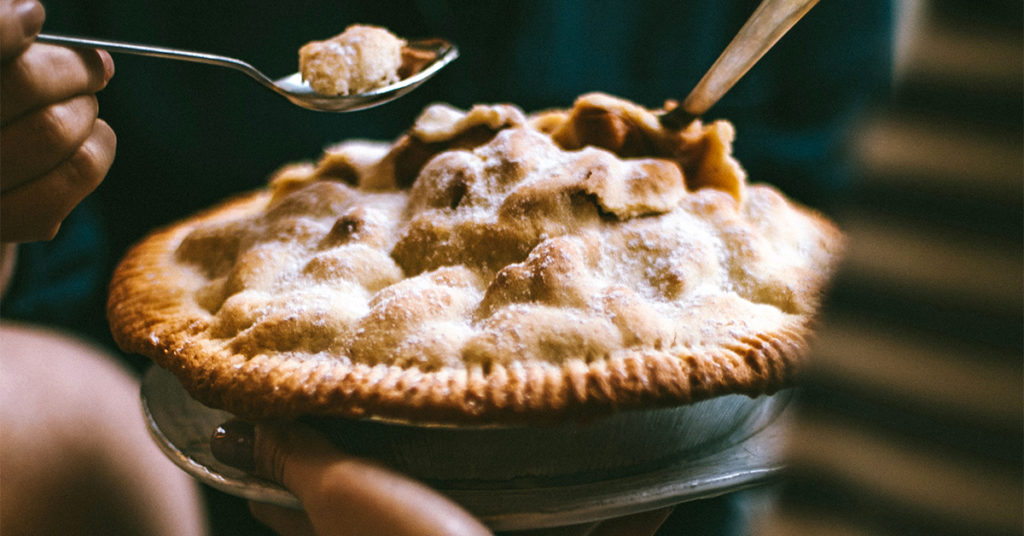 Delicious Pie shared with friends
