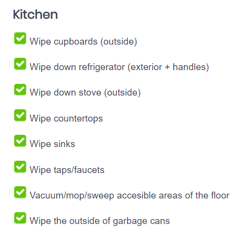 residential cleaning directions