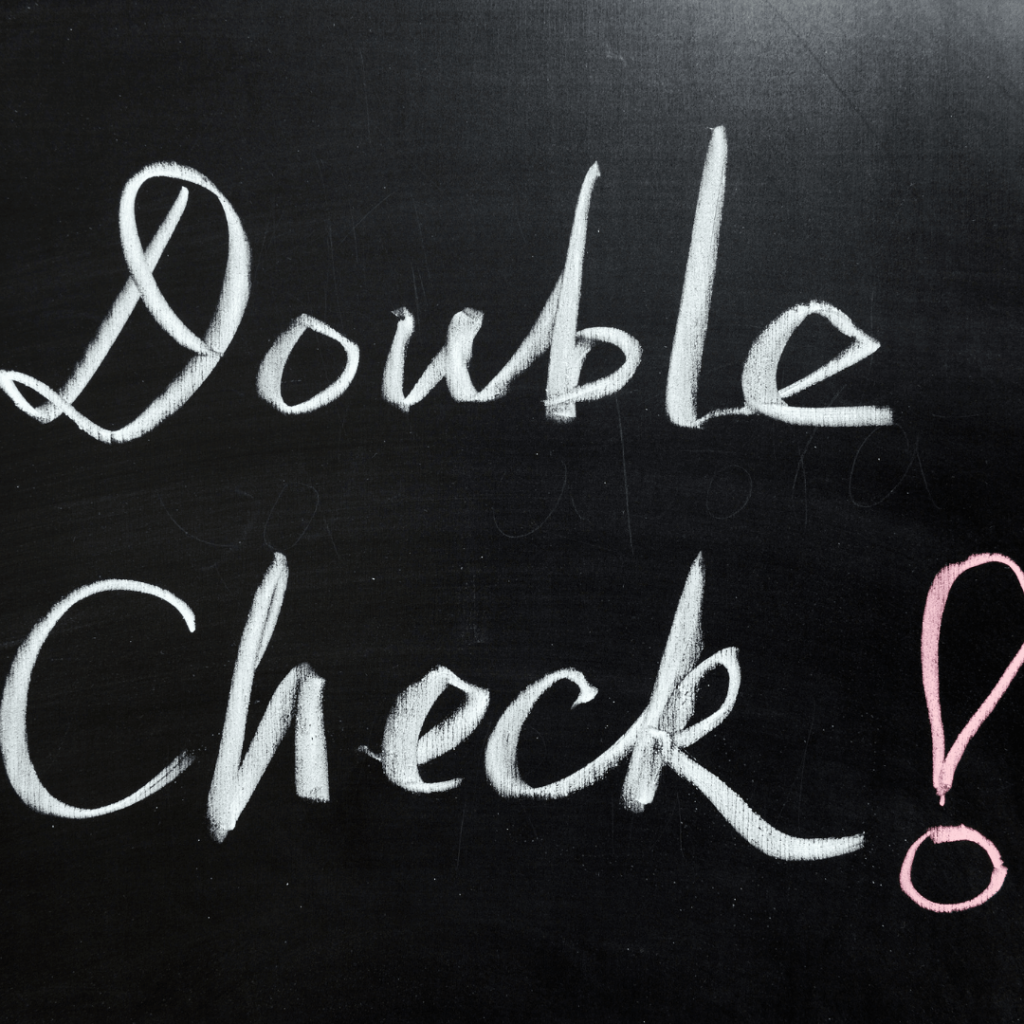 double check cleaning service work